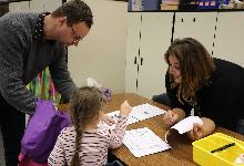 parent, teacher and child