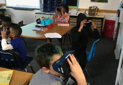 Students using Google goggles