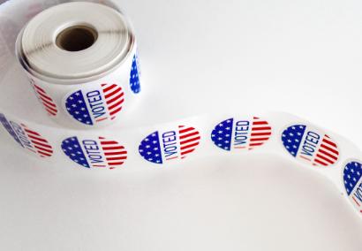voting sticker roll