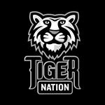 Tiger Nation Gray on Black EPS
