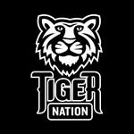 Tiger Nation White on Black