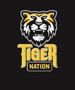 Tiger Nation 9-12 2 color on blk EPS