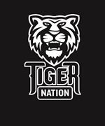 Tiger Nation 9-12 white on blk EPS