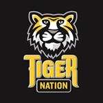 Tiger Nation 2 Color on Blk Nice