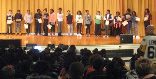 7th grade Honor Roll awardees