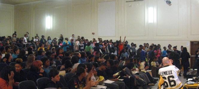 7th grade Citizenship awardees standing