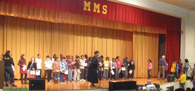 6th grade Merit Roll awardees