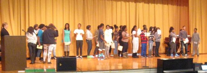 8th grade Merit Roll awardees