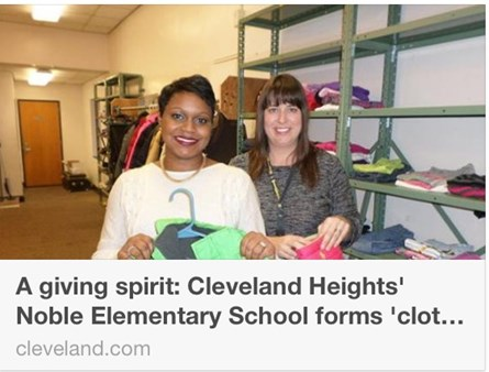 Noble Elementary School forms 'clothes pantry' for students in need
