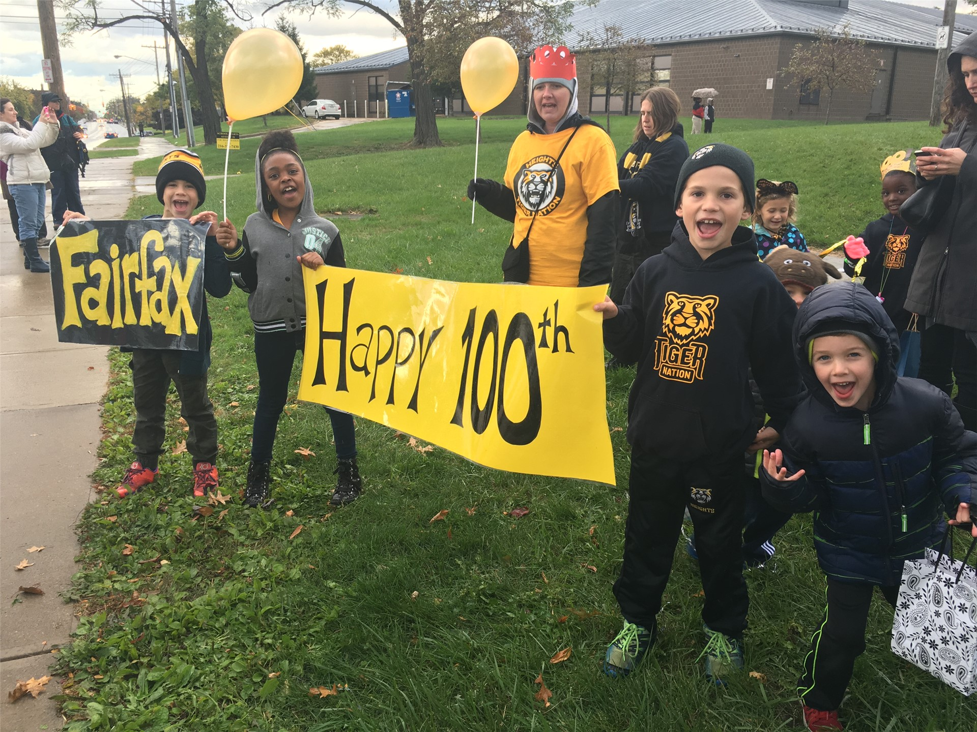 Students celebrate 100 years of Fairfax at Homecoming