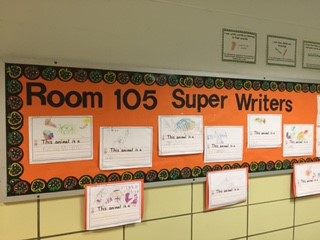 Kindergarten Room 105 are Super Writers