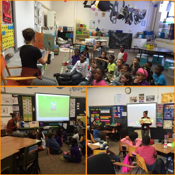 Noble Neighborhood Library Visits 2nd Grade