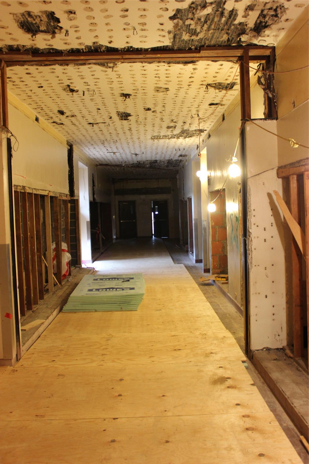 Second floor, looking west.