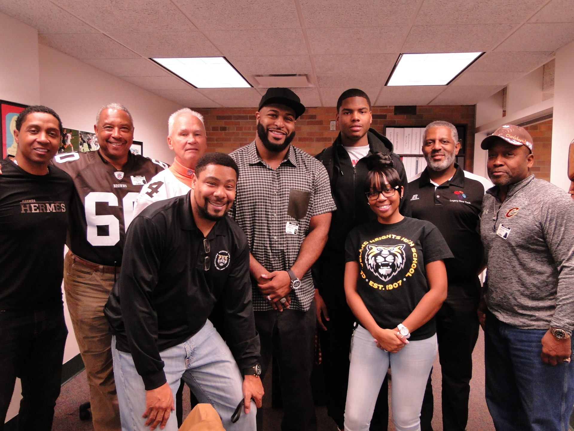 Current Player Jaylen Harris with NFL Players