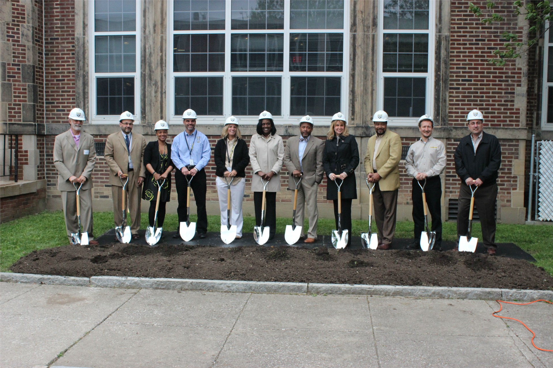 Superintendent Dr. Talisa L. Dixon with Cabinet Members and Lead Architect Gary Balog
