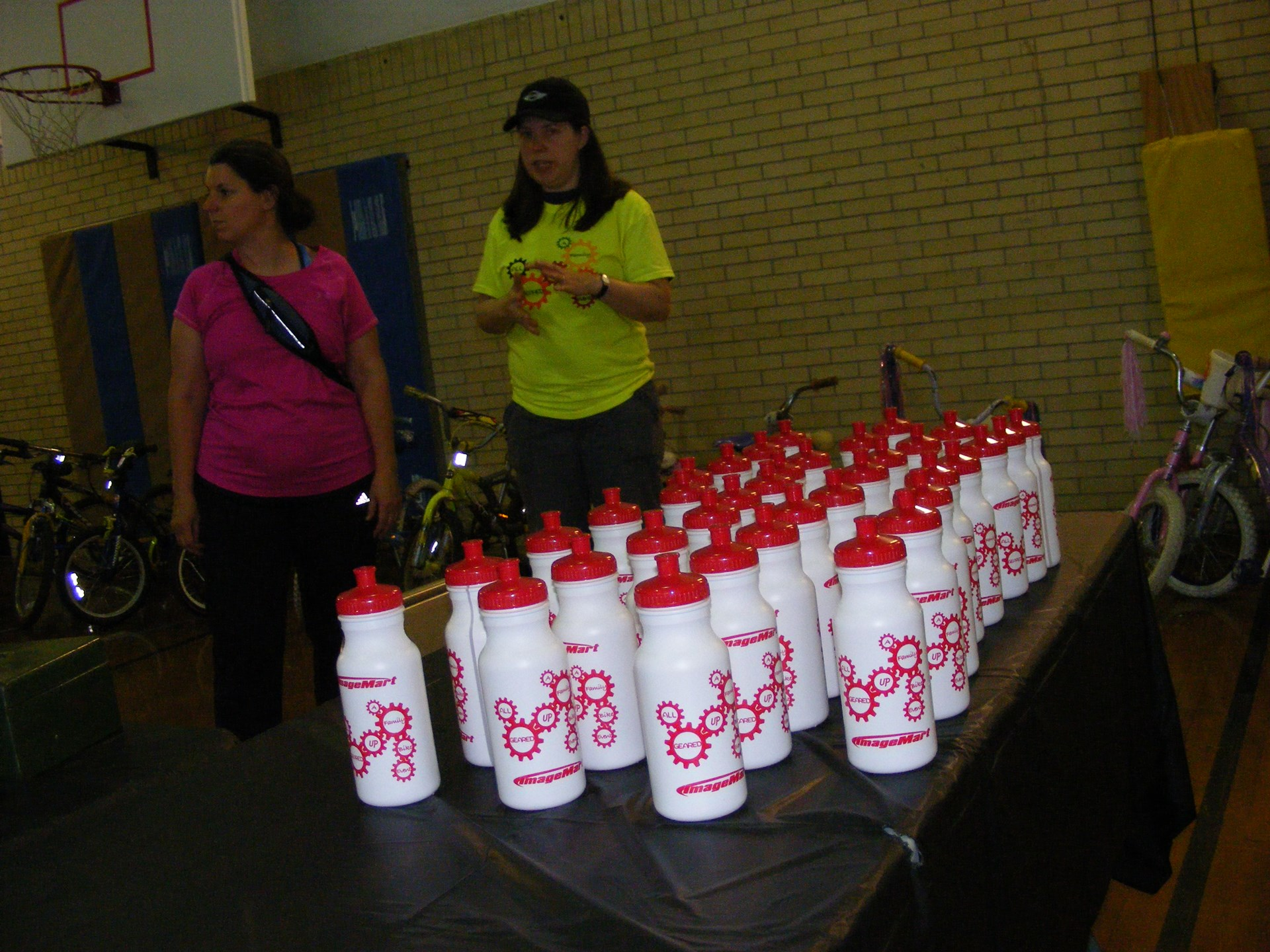 Water bottles for all participants!