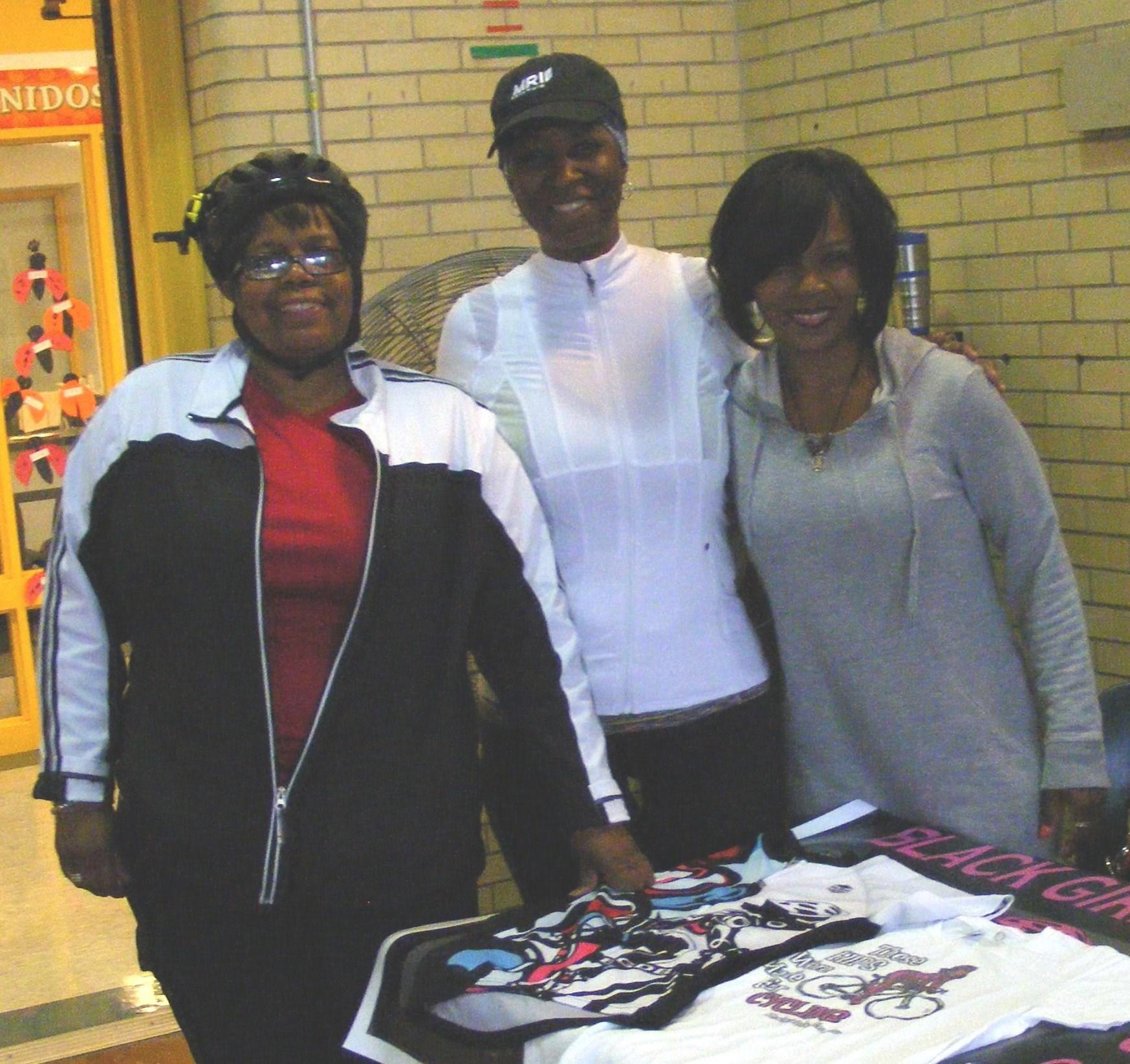 Representatives from Black Girls do Bike hosted an info table