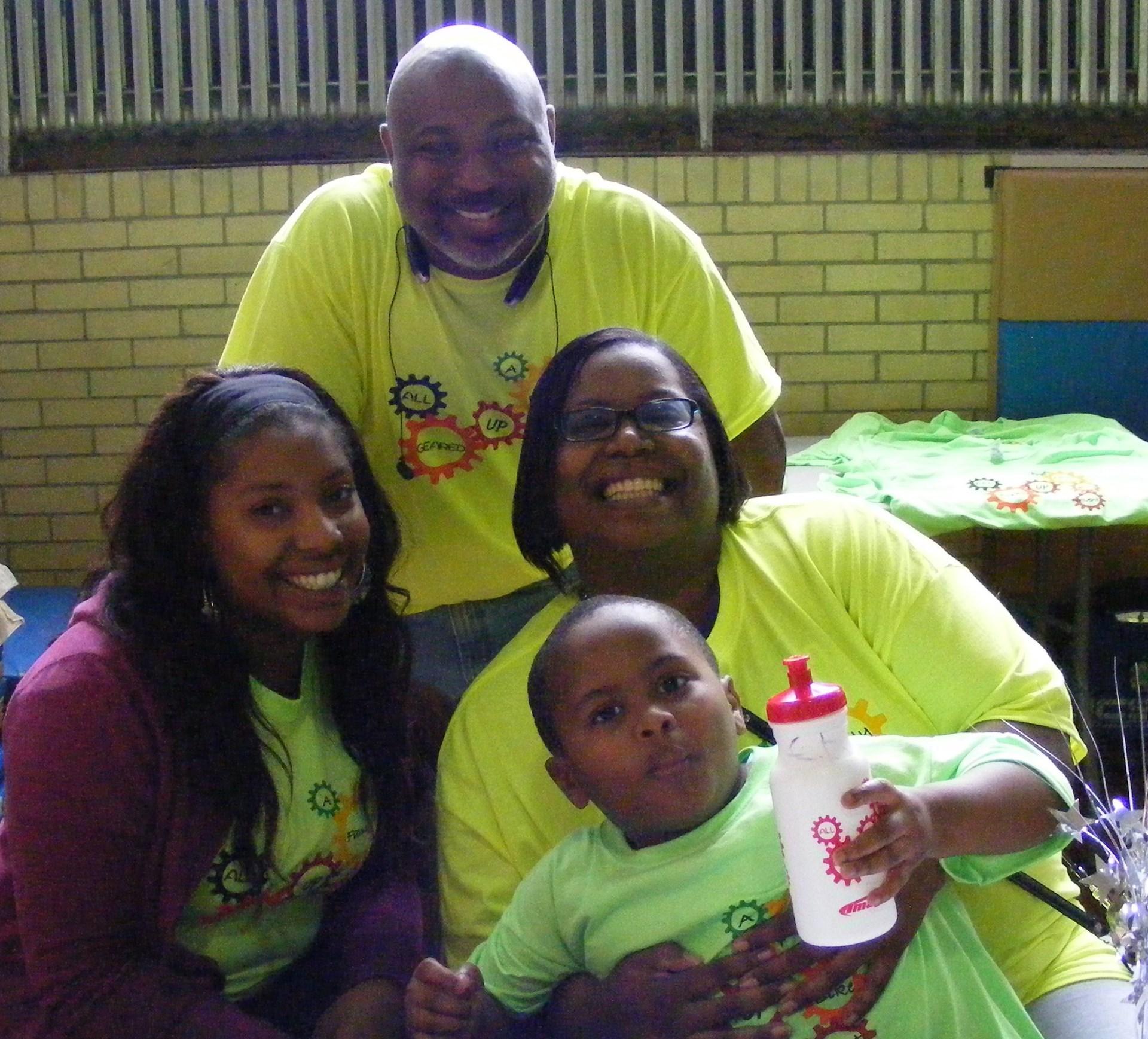 Event organizer Darren Carter and family