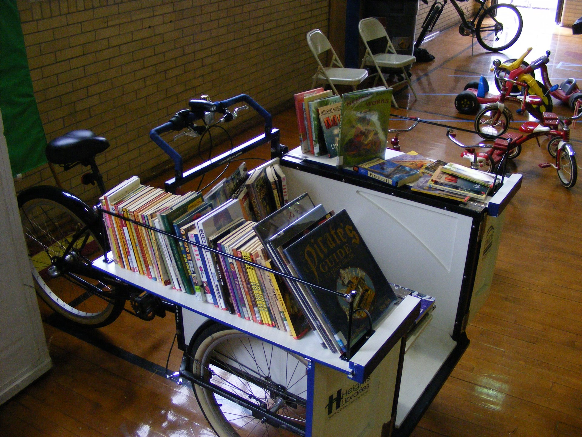 The Heights Library Book Bike