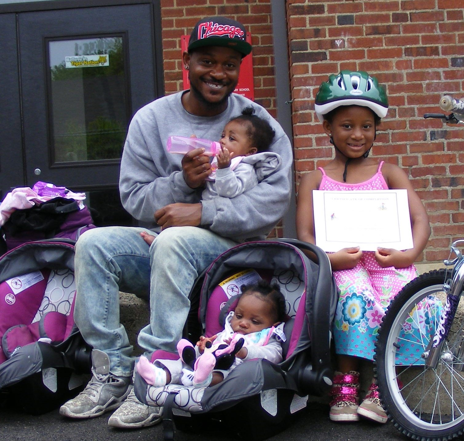 Dad and bike participant - with two future cyclists