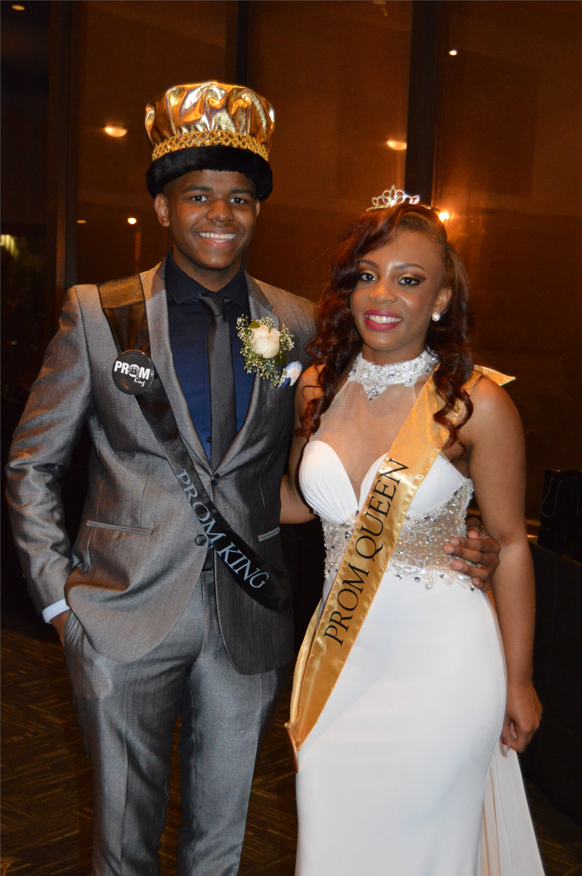 Prom King Sean Ayers and Queen Jazmine Gainer