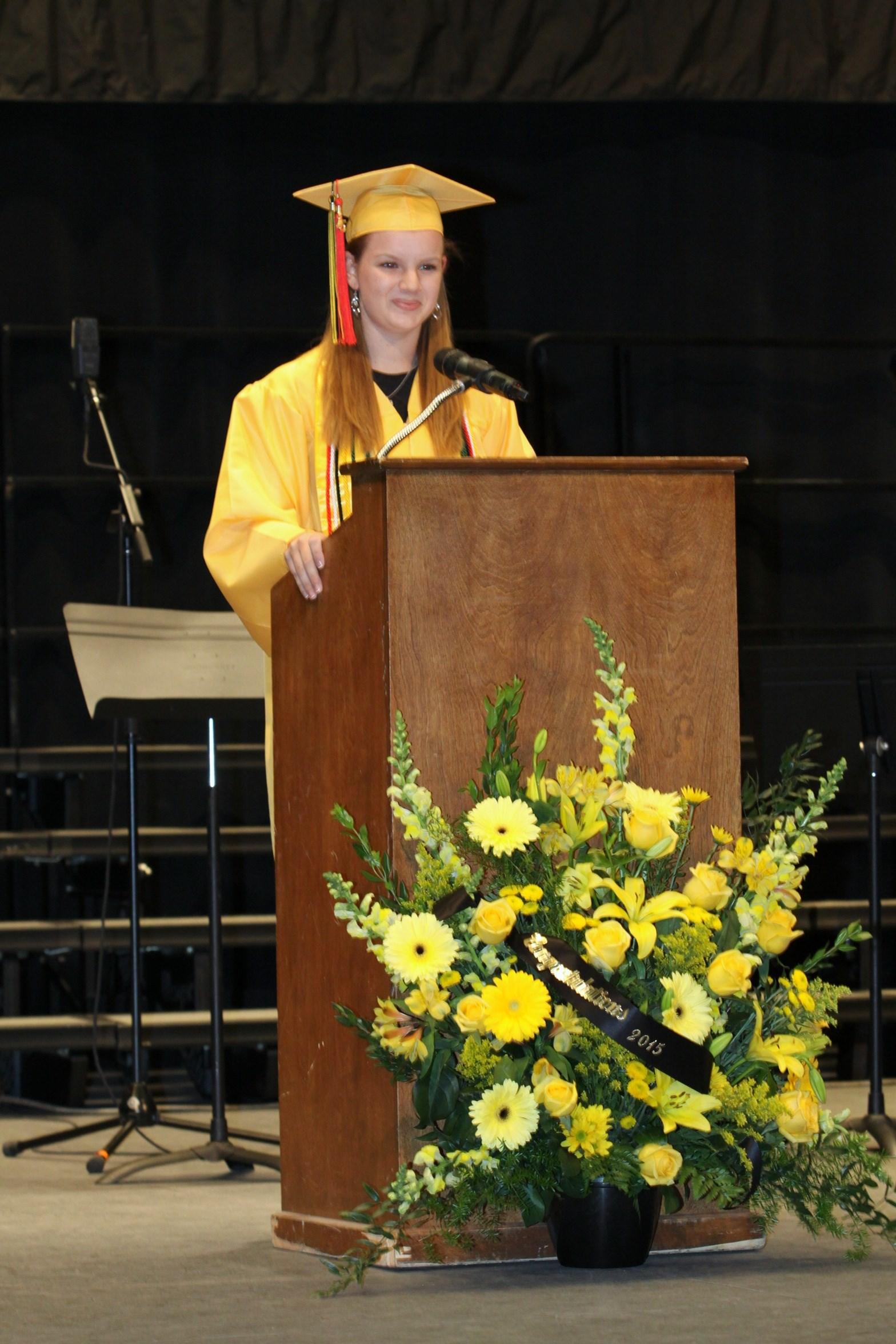Class President Emily Vinson