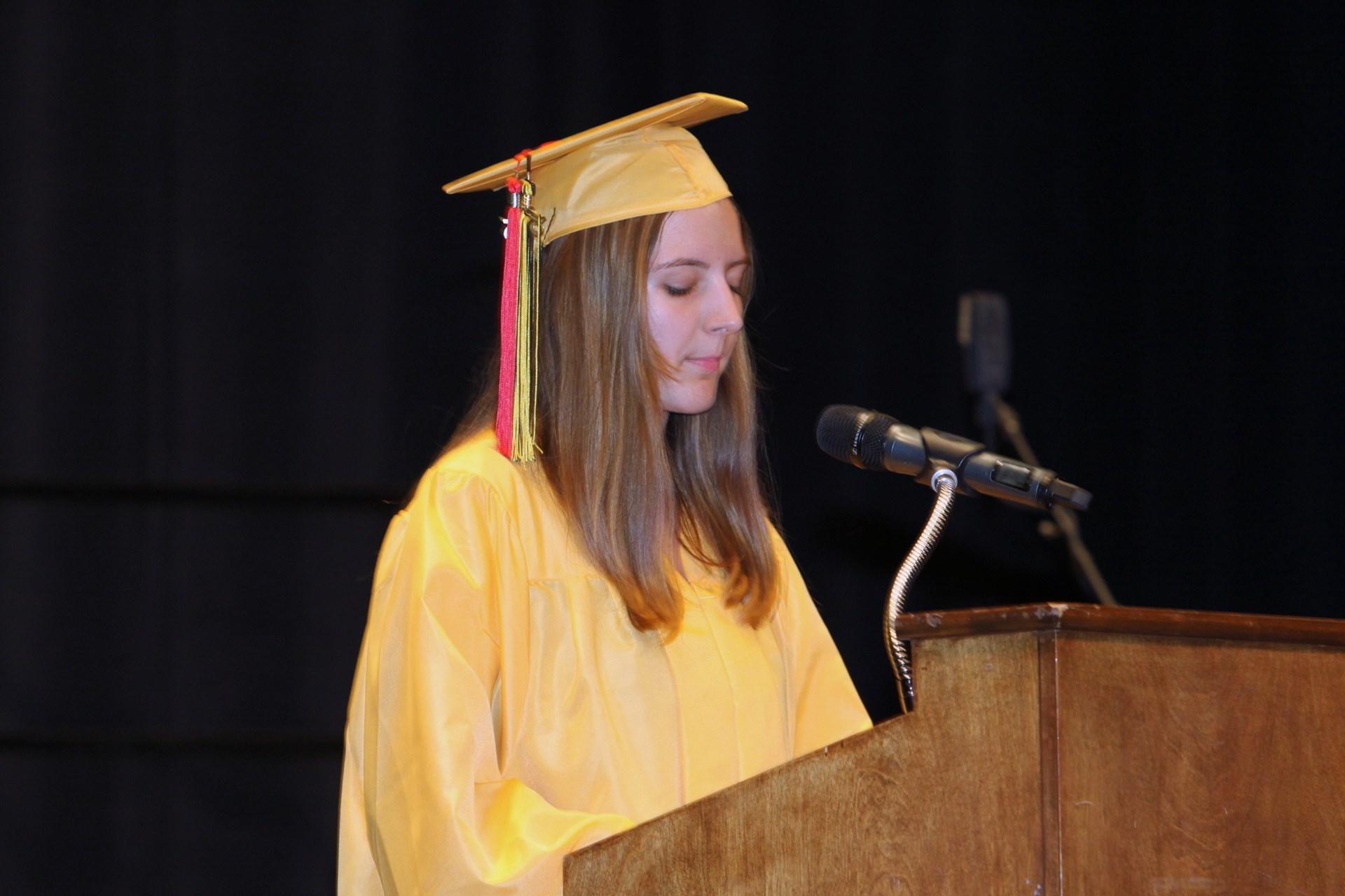Student Speaker Gabriella Russo