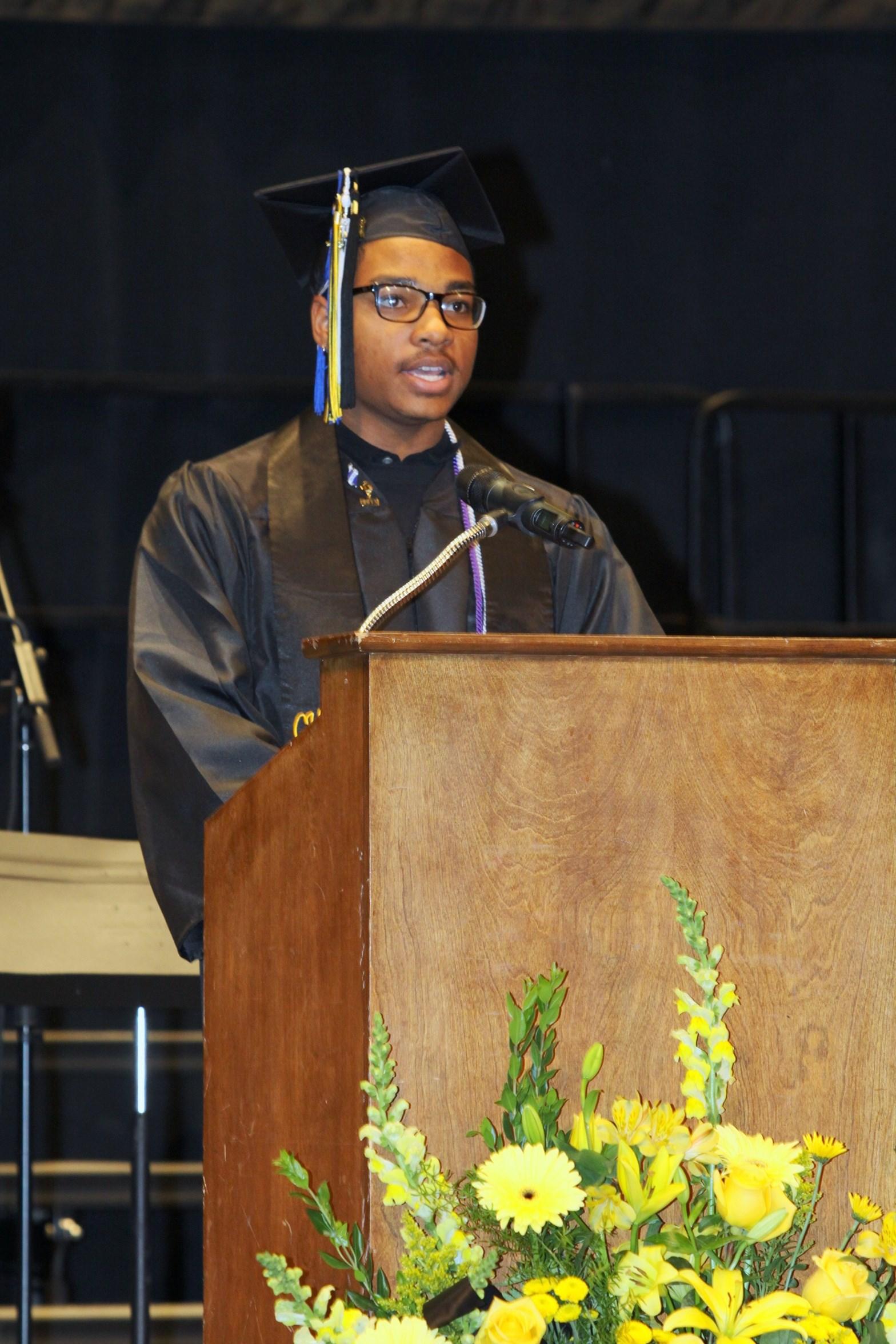 Peyton Meeks, student speaker