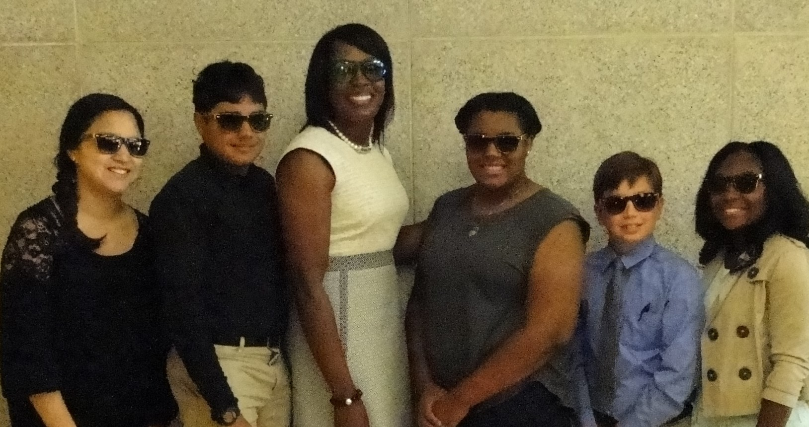 Superintendent Dr. Talisa Dixon and student presenters.