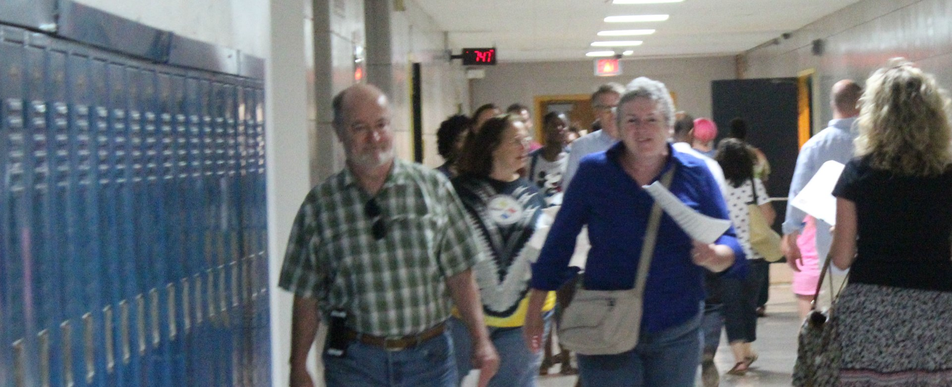 Parents head to class.