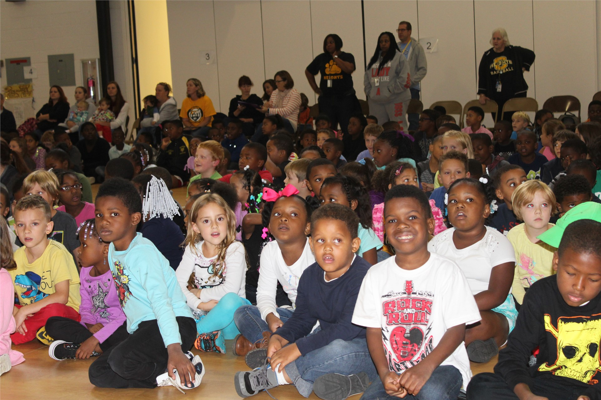 Kindergarten Students at first PAWS Assembly