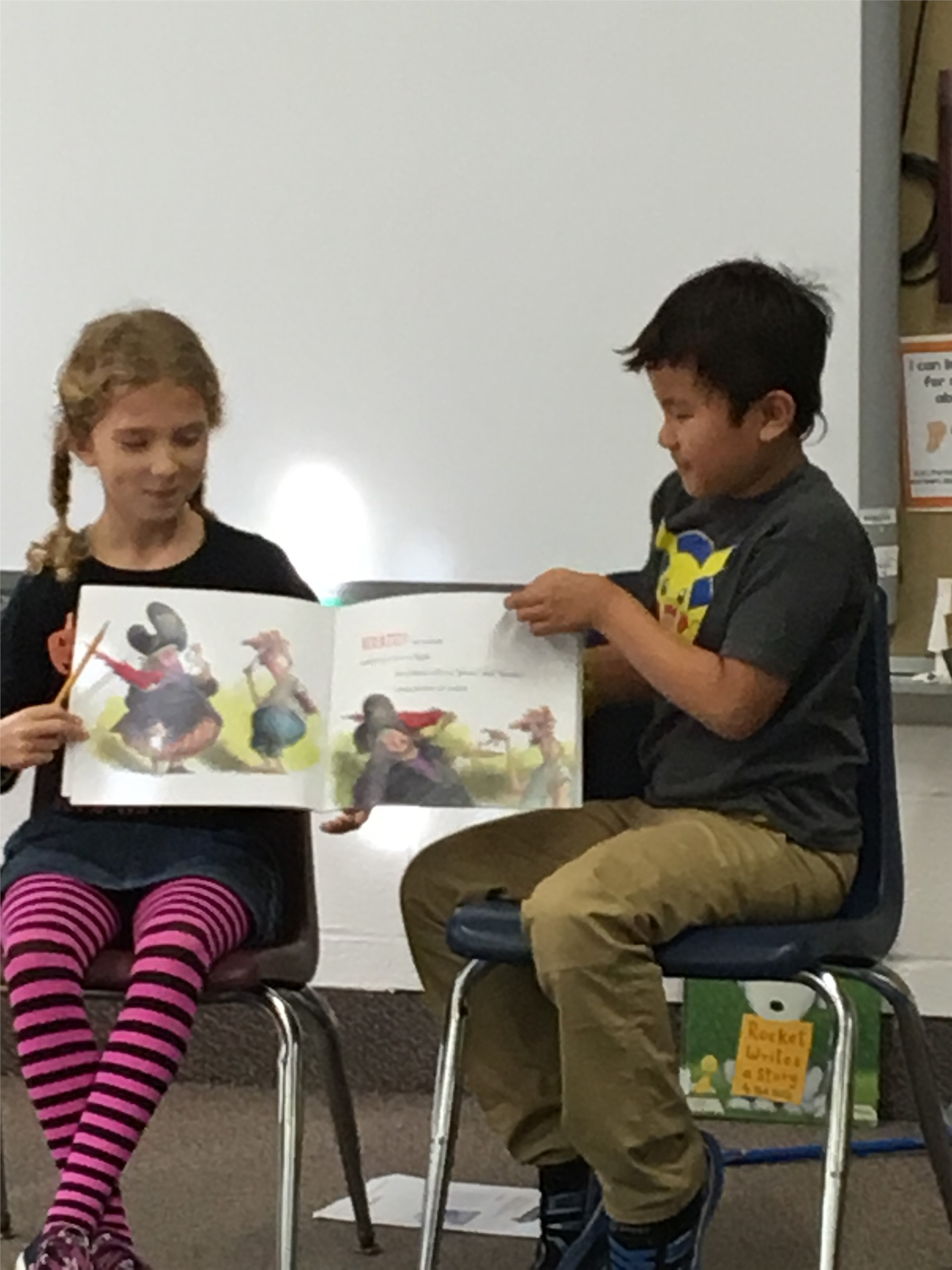 Guest Reader Sophia and Rajata (Jett)