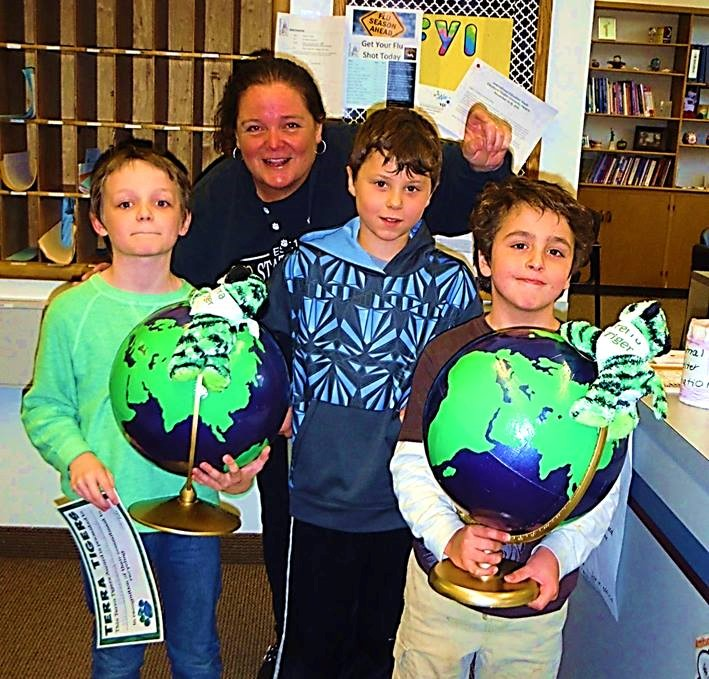 Roxboro classrooms receive our first Terra Tiger trophies for caring about our environment