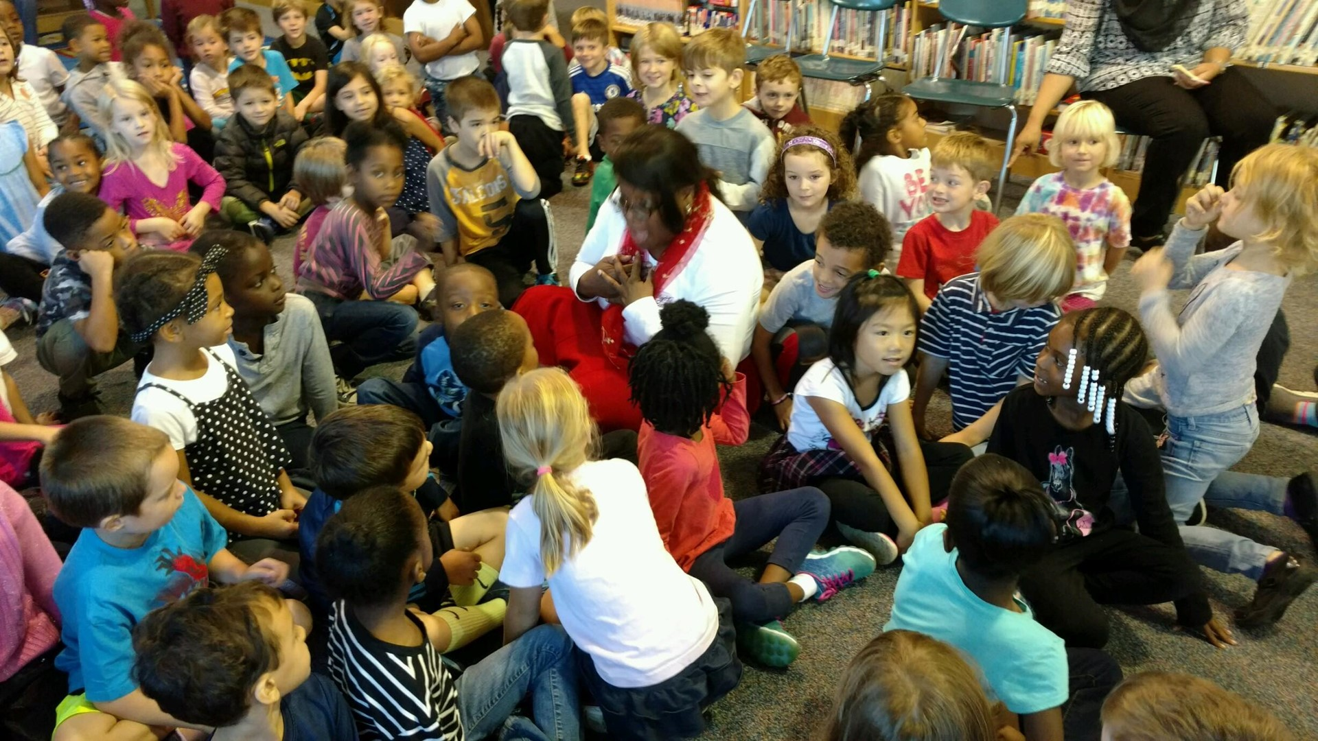 1st Graders meeting CH Mayor.