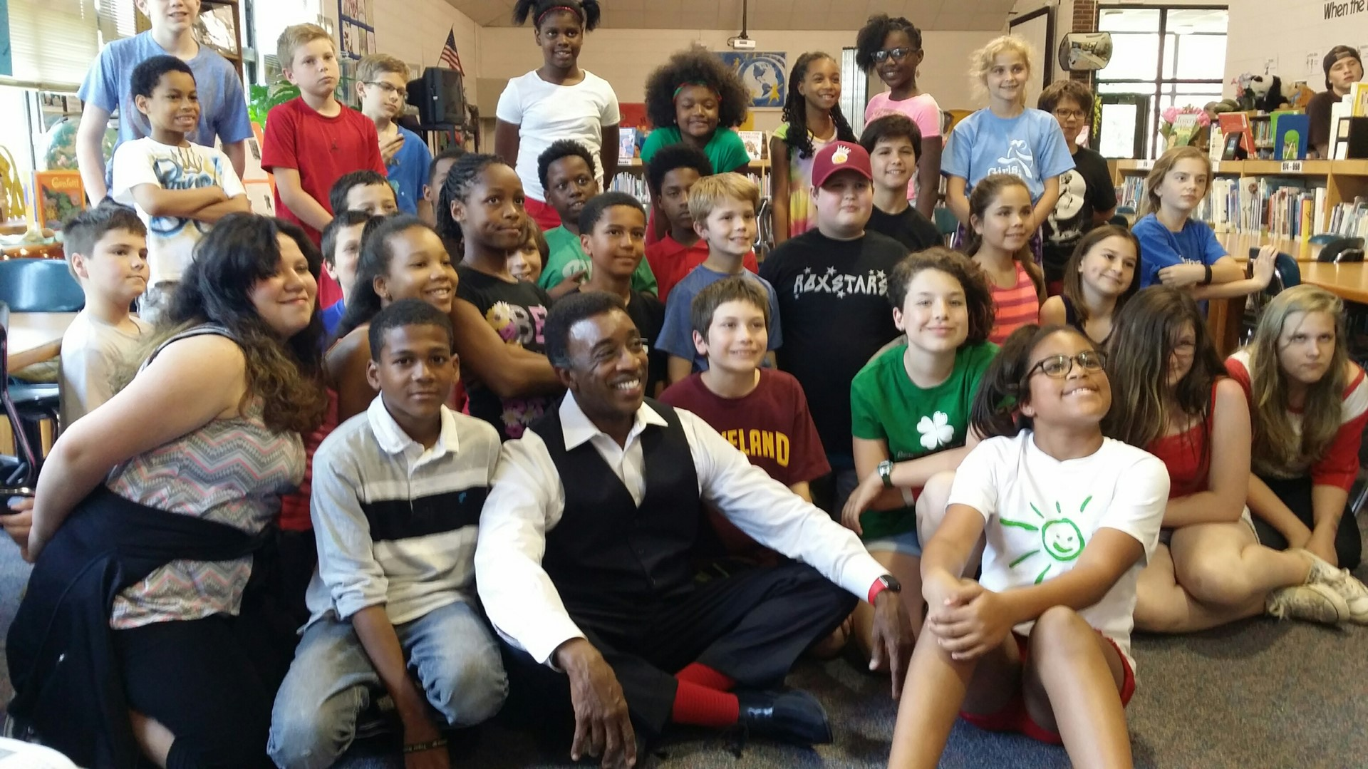 Channel 8 personality visits Roxboro.