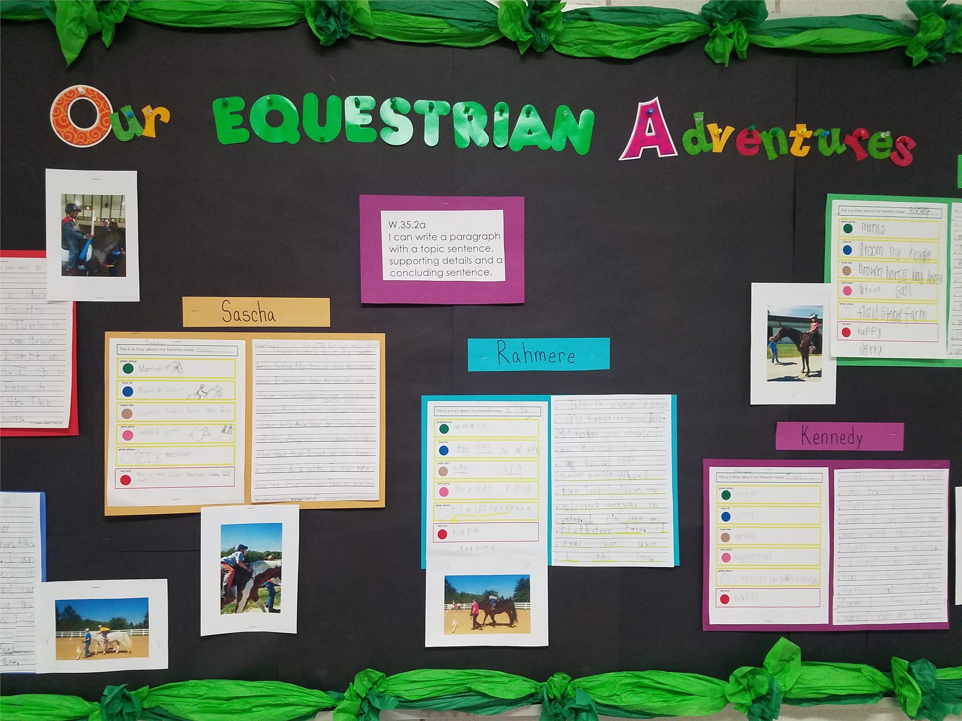 Canterbury students love their time spent with horses!