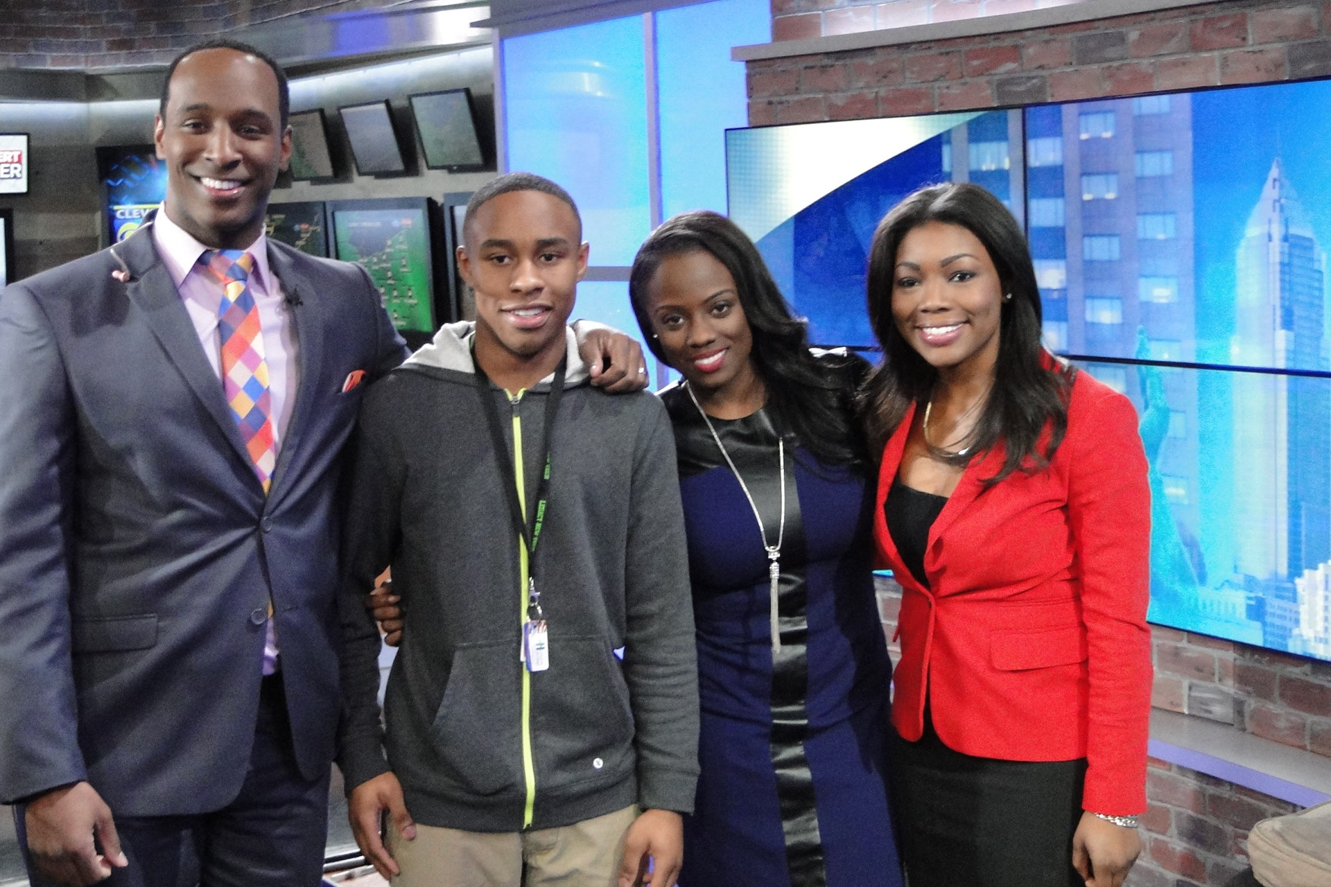Xavier Mitchell with Cleveland 19 Multimedia Journalist & Heights High Grad Shanice Dunning.
