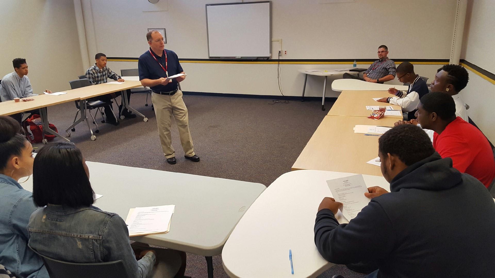 T.J. Maxx Store Manager visits our CBI Program to teach employability skills.