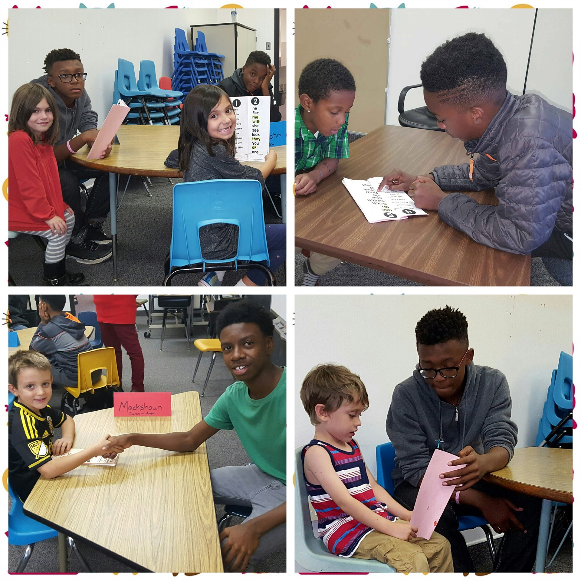 Odyssey participants give back and tutor elementary students.