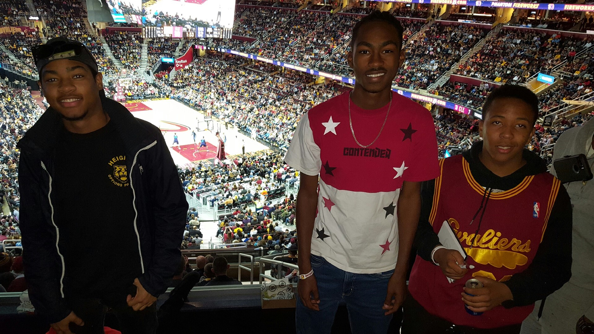 2017 Options Global Ambassadors bond at Cleveland Cavaliers Game.