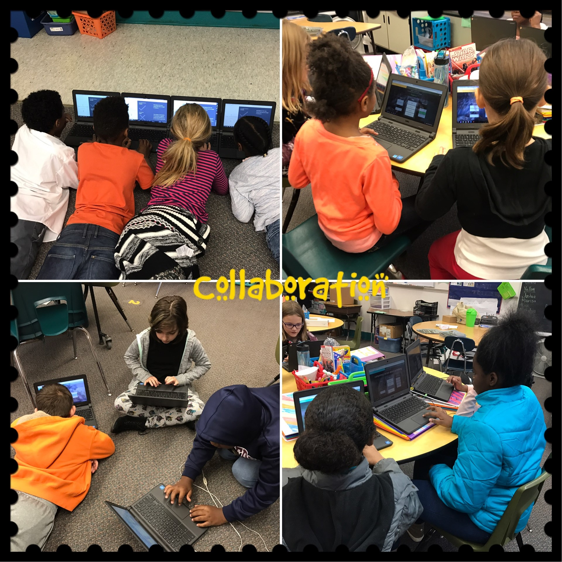 Mrs. Davis's class loves to collaborate!