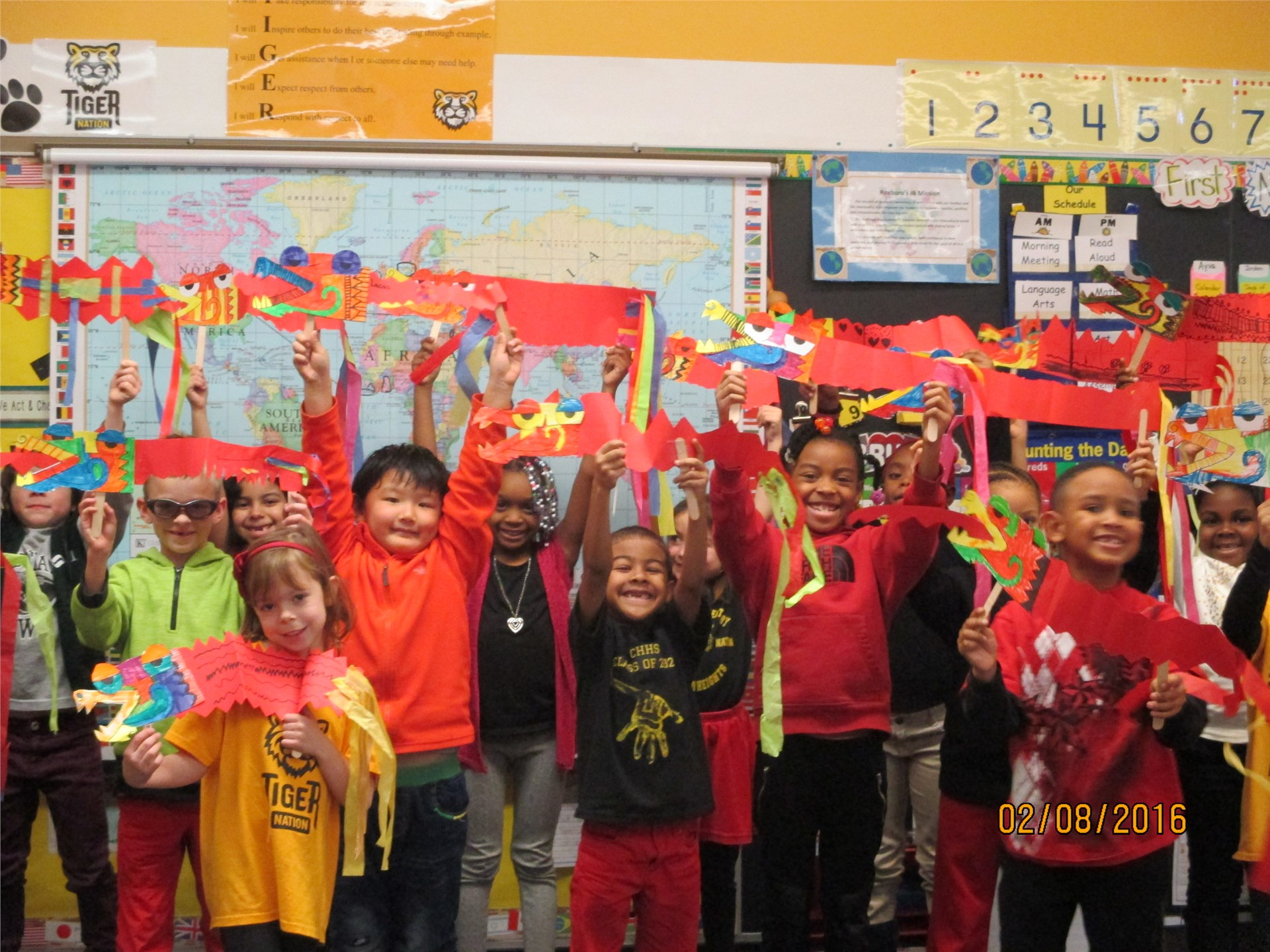 1st Graders Celebrate Chinese New Year 2016