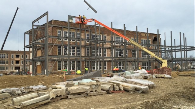 Heights High Construction Progress - March 2016