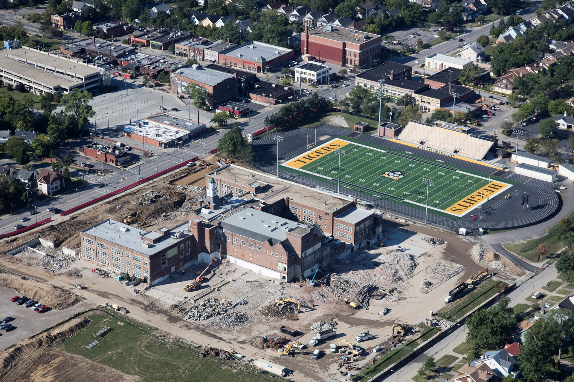Heights High Construction Aerial - September 2015