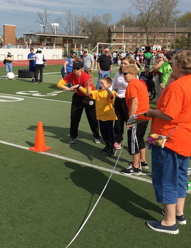 Brendon Craig from Boulevard Elementary earned 3rd place in the softball throw.