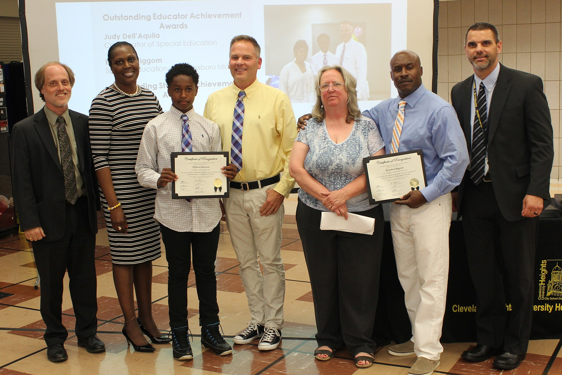 Two CHUH students and two teachers were recognized by Cuyahoga County with Excellence in Education Awards.