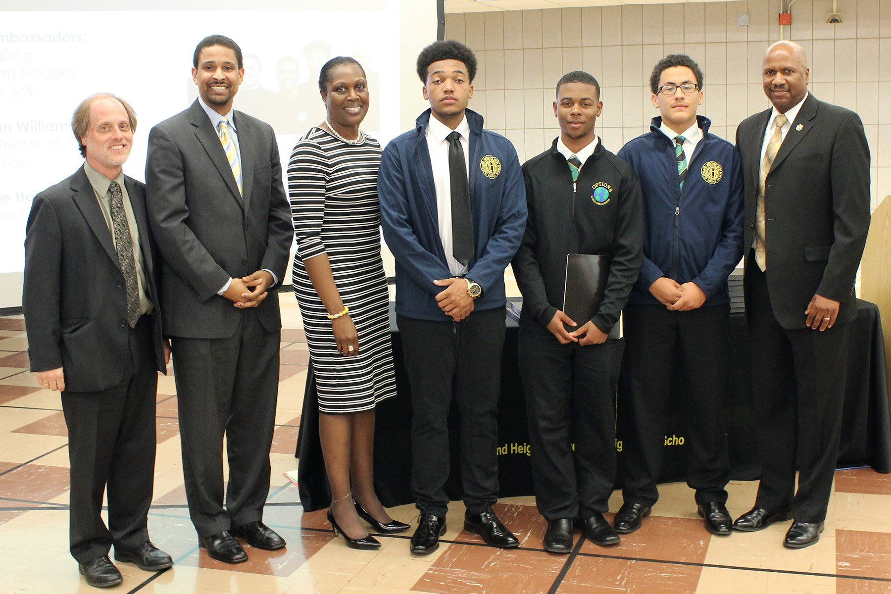 The Options Global Ambassadors spoke at the Board meeting.