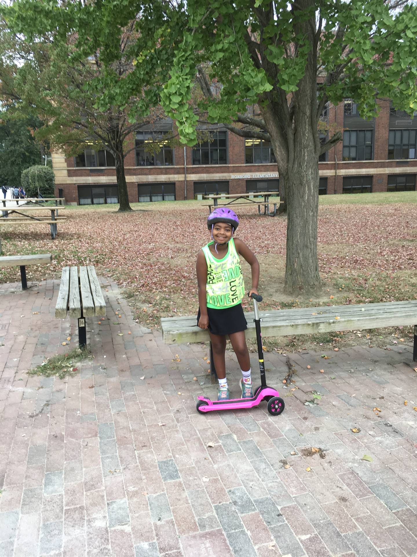 Erika and her scooter