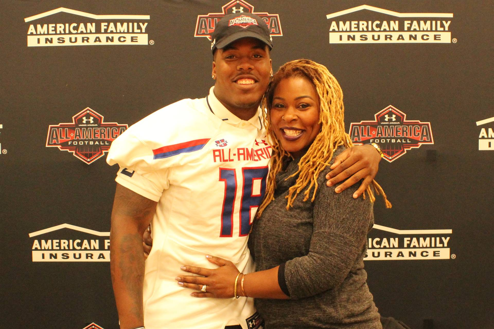 Tyreke Smith and his Mother
