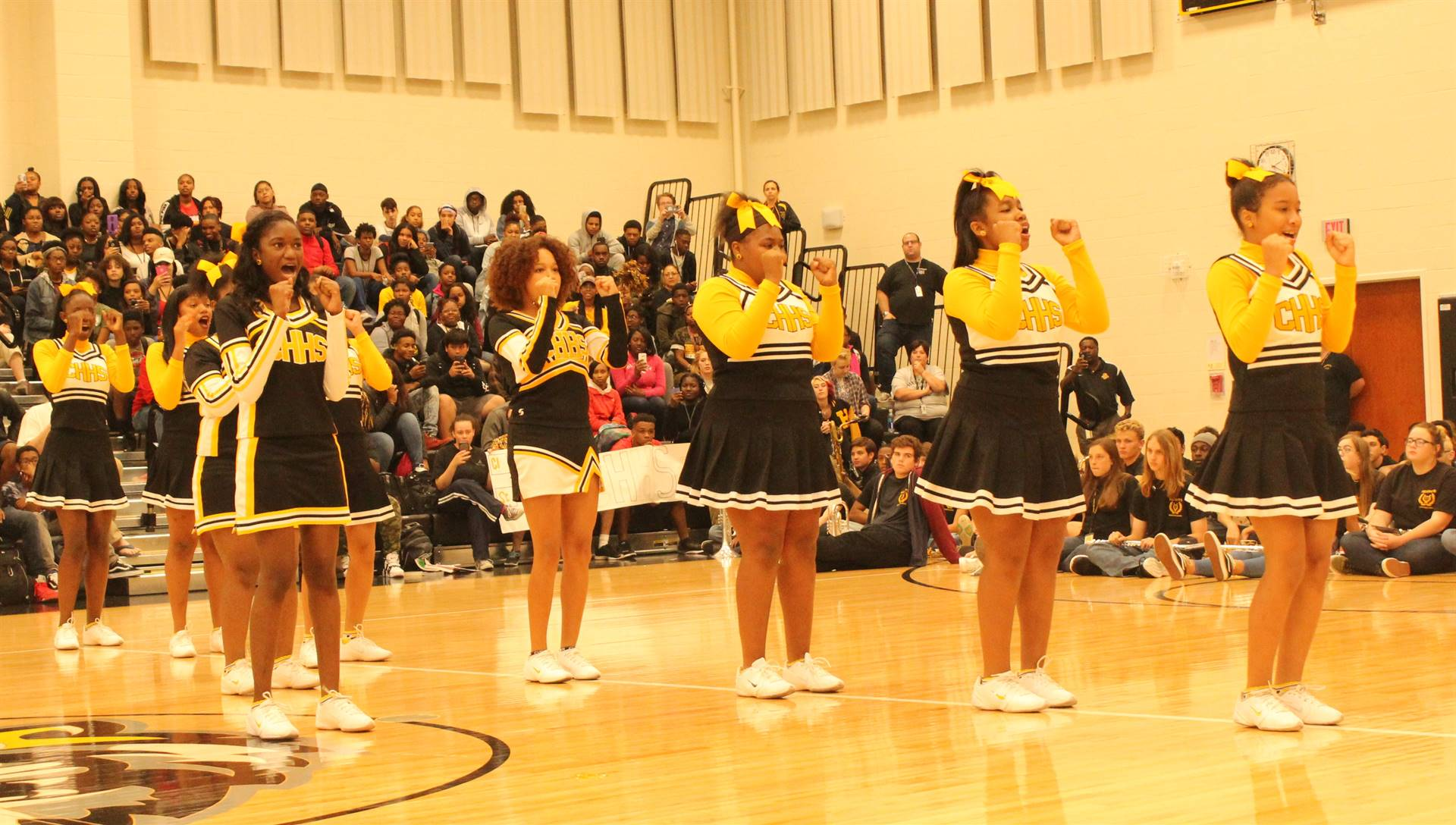 Cheerleaders at the Pep Rally